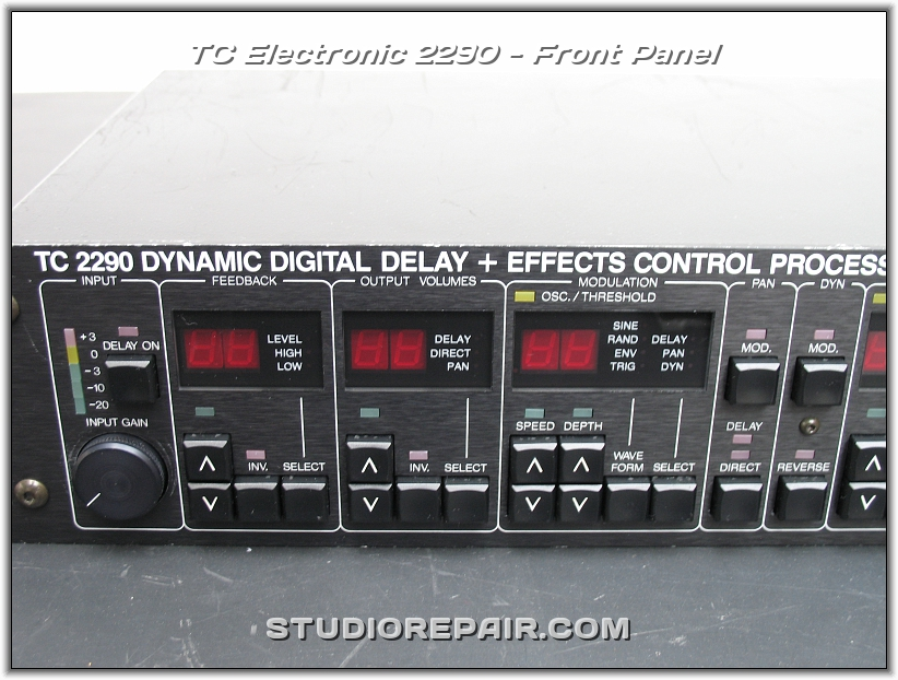 studio repair tc electronic 2290 front panel. Black Bedroom Furniture Sets. Home Design Ideas