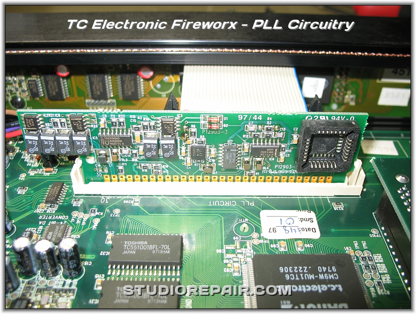 studio repair tc electronic fireworx pll circuitry. Black Bedroom Furniture Sets. Home Design Ideas